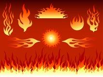 Vielzahl der Flammen Lizenzfreie Stockfotografie