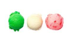 Vielzahl der italienischen Eiscreme Stockbild