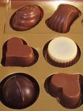 Kasten Schokoladen Stockfoto