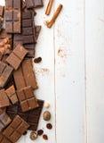 Vielzahl der Schokolade Stockfotografie
