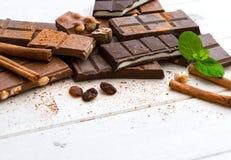 Vielzahl der Schokolade Lizenzfreie Stockfotos