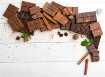 Vielzahl der Schokolade Lizenzfreies Stockbild