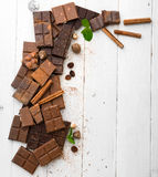 Vielzahl der Schokolade Lizenzfreies Stockfoto