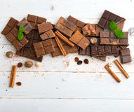 Vielzahl der Schokolade Stockfoto
