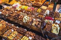 Vielzahl der Schokoladen stockfotos