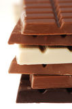 Vielzahl der Schokoladen Stockfotografie