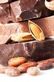 Vielzahl der Schokoladenstücke Lizenzfreies Stockfoto