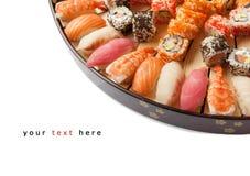 Vielzahl der Sushi Lizenzfreie Stockbilder