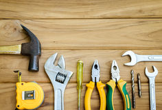 Vielzahl des Heimwerkers Tools Lizenzfreie Stockbilder