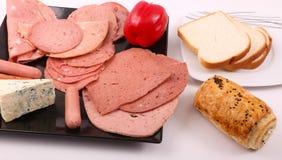 Vielzahl des Luncheon Meat stockbild
