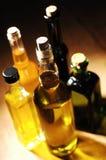 Vielzahl des Speiseöls Stockfotos