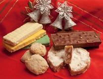 Vielzahl des Weihnachtsnachtischs lizenzfreie stockbilder