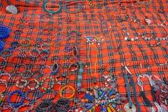 Vielzahl von afrikanischen Andenken Stockfotografie