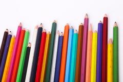 Vielzahl von hölzernen Farben Stockfotografie