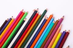 Vielzahl von hölzernen Farben Stockbilder