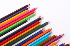 Vielzahl von hölzernen Farben Stockfotos