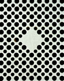 Vielzahl von schwarzen Quadraten Stockfoto