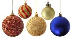 Vielzahlweihnachtskugeln lizenzfreies stockbild