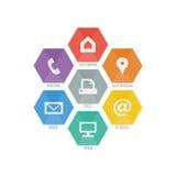 Vielzwecksatz Netzikonen für Geschäft, Finanzierung und Kommunikation Lizenzfreie Stockfotos