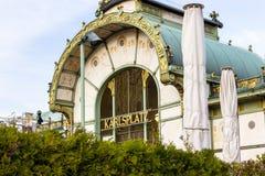 Viena/Áustria - 4 de abril de 2018: Café Viena de Karlsplatz fotos de stock royalty free