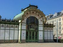 Viena/Áustria - 9 de abril de 2015: A construção velha e famosa do th foto de stock