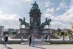 VIENA, ÁUSTRIA - 7 DE OUTUBRO DE 2016: Maria Theresa Monument Vienna, Áustria Maria Theresien Platz, Viena, Áustria Fotografia de Stock