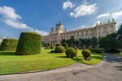 VIENA, ÁUSTRIA - 7 DE OUTUBRO DE 2016: Maria Theresien Platz It é nomeada em honra da imperatriz Maria Theresa Viena, Áustria nat fotos de stock royalty free