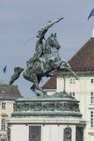 VIENA, ÁUSTRIA, E U - 5 DE JUNHO DE 2016: Monumento equestre da AR fotografia de stock
