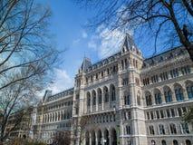 Viena/Áustria - em abril de 2015: A fachada lindo da cidade Hal fotografia de stock royalty free