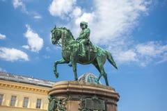 Viena, Áustria - 19 08 2018: Estátua do arquiduque Albrecht 1899 imagem de stock royalty free