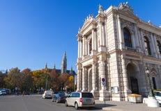 Viena, Áustria, o Burgtheater imagens de stock
