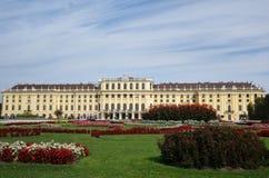 Viena, Áustria - 9-23-2016: O palácio e os jardins de Schonbrunn mim Fotos de Stock Royalty Free