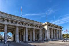 Viena, Áustria setembro de 2018: a estrutura da entrada do palácio imperial de Hofburg em Viena imagens de stock royalty free