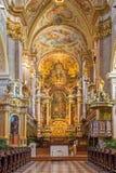 Viena - altar barroco de la iglesia del monasterio en Klosterneuburg Foto de archivo libre de regalías