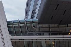 Viena/Austria/12 de noviembre de 2017: Interior paramétrico del edificio de biblioteca de Zaha Hadids en Viena imagen de archivo libre de regalías