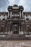 VIENA, AUSTRIA - 6 DE OCTUBRE DE 2016: Entrada del Burg de Neue, museo Wien de Kunsthistorisches Museo de Art History en Viena, A Foto de archivo