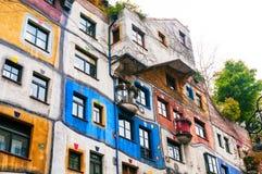 VIENA, AUSTRIA - 18 DE OCTUBRE DE 2015: Hundertwasser Haus en Vienn Imagen de archivo libre de regalías