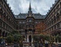 VIENA, AUSTRIA - 6 DE OCTUBRE DE 2016: Rathaus, Viena Ciudad Hall Architecture en Viena, Austria fotos de archivo