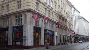 VIENA, AUSTRIA - DICIEMBRE, 24, 2016 hotel de lujo Herrenhof Fotografía de archivo libre de regalías
