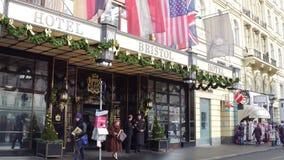 VIENA, AUSTRIA - DICIEMBRE, 24 hoteles de lujo Bristol Imagenes de archivo