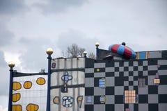 VIENA, AUTRICHE - 28 JUILLET 2010 : Vue à l'usine de chauffage urbain Images stock
