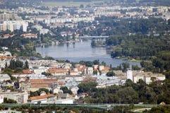 Viena Danúbio Fotografia de Stock