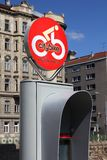 Estação de Viena Citybike fotos de stock royalty free