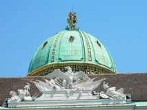 Viena Dome. The Viena Dome near the winter palace Hofburg in Michaelerplatz Royalty Free Stock Photos