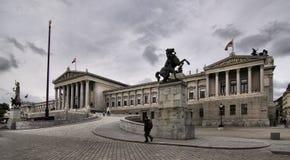 Viena, edificio austríaco del parlamento (Hohes Haus) Fotografía de archivo