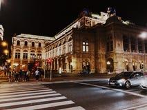 Viena em a noite foto de stock royalty free