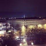Viena en la noche fotos de archivo