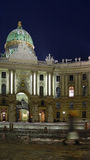 Viena en la noche Foto de archivo libre de regalías