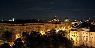 Viena en la noche fotografía de archivo