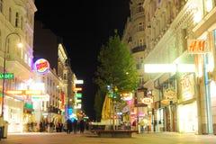 Viena en la noche Fotos de archivo libres de regalías